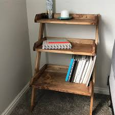Leaning Ladder Desk by Leaning Wall Nightstand Sawdustandsaturdays Http Www Ana