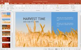 animated harvest powerpoint template