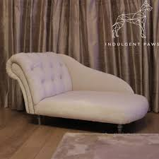 Dog Chaise Paws Luxury Dog Chaise Lounge White
