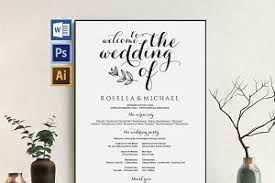 wedding program sign wedding program sign wpc377 invitation templates creative market