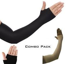 2 pairs cooling arm sleeves cover uv sun protection basketball