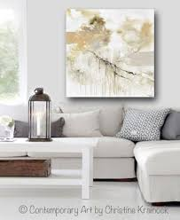 modern white home decor giclee print art white grey abstract painting modern neutral wall