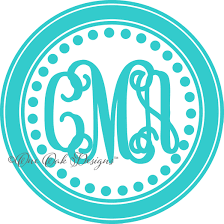 circle dot monogram frame svg