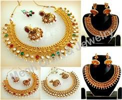 one gram gold jewelry designer mughal rajwada style antique