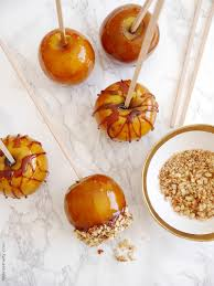 candy apples for halloween crunchy toffee caramel apples recipe party ideas party printables