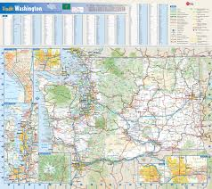 Map Of The United States Highways by Large Roads And Highways Map Of Washington State With National