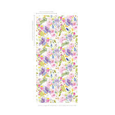 wisteria extra wide wallpaper oversized floral designs