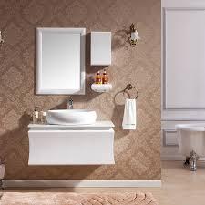 Pvc Vanity 100cm Traditional Pvc Single Bathroom Vanity Stone Top Jolong