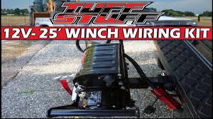tuff stuff 2 gauge 25 ft perminent winch wiring kit w quick