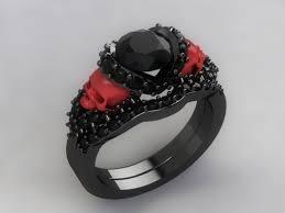 Skull Wedding Rings by The