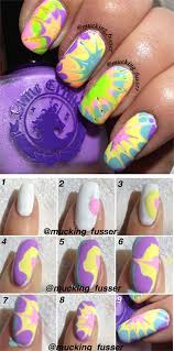 easy step by step marble nails superb water marble nail art for