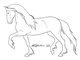 draught horse clipart colouring sheet pencil and in color