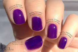 sally hansen purple craze comparison vs china glaze creative