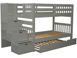 Bunk Bed With Trundle And Drawers Bunk Beds Stairway Gray Trundle 826 Bunk Bed King