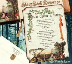 fairytale wedding invitations invitations scroll storybook fairy tale theme wedding katherynn