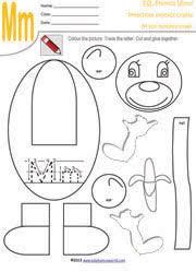 alphabet craft worksheets alphabet paper craft paper crafts for