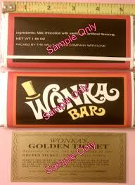 wonka bars where to buy 7 oz sized willy wonka chocolate bar wrapper golden ticket