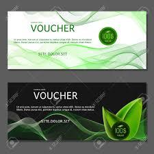 green gift voucher vector illustration gift voucher vector illustration card template green royalty