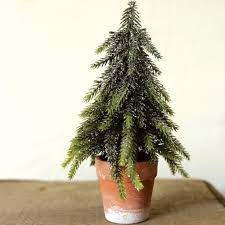faux fir tree tabletop topiary small tree antique farmhouse