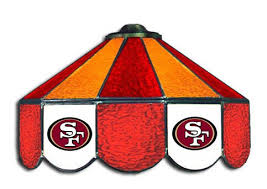 49ers pool table felt san francisco 49ers nfl stained glass 3 shade pool table light