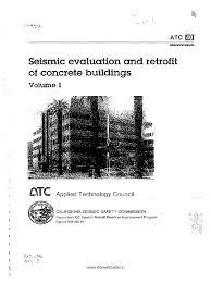 atc 40 seismic evaluation and retrofit of concrete buildings