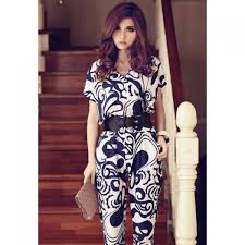 stylish jumpsuits plunging neck stylish sleeve s jumpsuit with