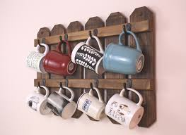 coffee cup holder mug display country kitchen farmhouse decor