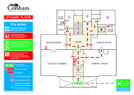 evacuation floor plan template osha evacuation plan template fire floor well gallery so