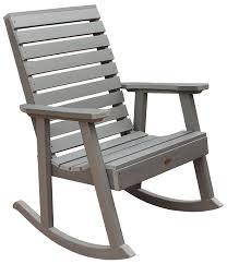 Recycled Plastic Rocking Chairs Highwood Weatherly Rocking Chair Coastal Teak Garden