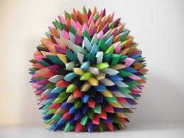 Origami Paper Works - interlocking origami and prisms by byriah loper