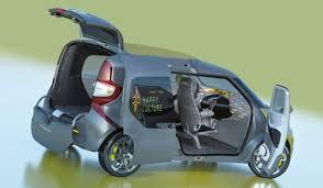 auto con porte scorrevoli renault frendzy concept il multivan elettrico con tablet sul