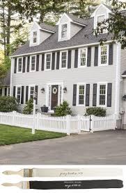 new england farmhouse neutral paint color scheme paint color