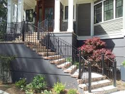 Handrail For Two Steps Wrought Iron Railings And Other Stair Components For Atlanta
