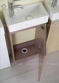 bathroom cloakroom vanity unit light oak with mirror basin tap