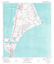 Port Canaveral Florida Map by Cape Canaveral Topographic Map Fl Usgs Topo Quad 28080d5