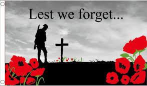 remembrance sunday lest we forget poppy 5 x3 150cm x 90cm flag