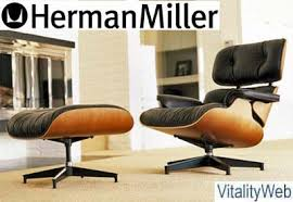 Herman Miller Leather Chair Herman Miller Eames Lounge Chair And Ottoman New Leather With