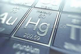 Periodic Table Mercury Mercury Chemical Element Spc Id 4990 Science 3d Illustration