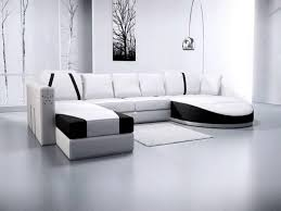 Big White Bed Pillows Sofa Unique Design Modern Interior Design Dark Colored Coffee