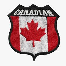 Canadian Flag Patch Embroidered Shield Biker Patch