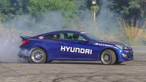 hyundai genesis drift we take part in a drifting class the wheel of the hyundai