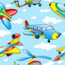 imagenes animadas de aviones sin patrón con aviones y helicópteros de dibujos animados en el