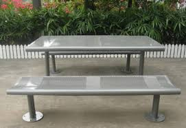 chic steel picnic table 25 best ideas about metal picnic tables on