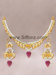 gold set in pakistan casual jewellery set with semi precious stones