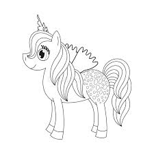 fairy foal wings coloring book children stock