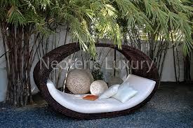 modern outdoor daybed furniture design sculptural collection modern