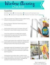 window cleaning checklist invisible glass clear dry formula