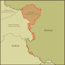 Map Of Nepal And China by A Map Of Aksai Chin And The Border Dispute Between China And India