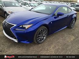 new lexus rcf for sale new ultrasonic blue 2015 lexus rc 350 2dr cpe awd f sport series