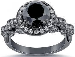 Black Wedding Ring by Black Wedding Rings For Her Wedding Ideas